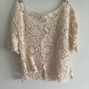 2/$15 Forever 21 crochet/lace crop top